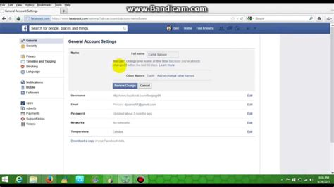 fb youtube how to change your fb name without waiting 60 days easy