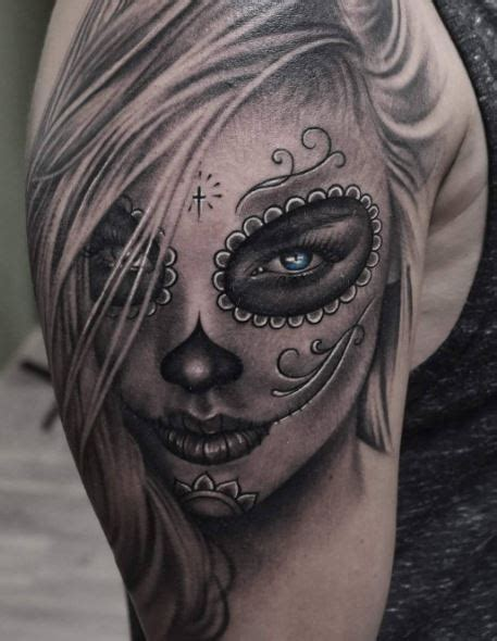50 beautiful day of the dead tattoos ideas and designs