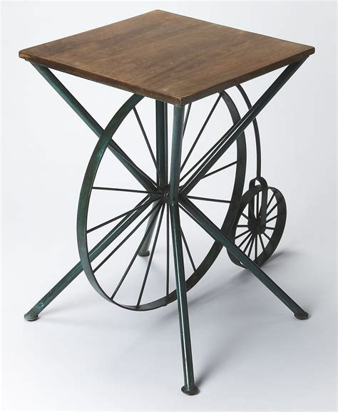 industrial accent table industrial chic 30 quot accent table from butler 3540330