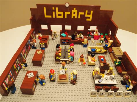 The library in lego form aka the absolute last post i will write