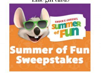 Chuck E Cheese Gift Card Online - page 2 daily entry contests sweepstakes for canada canadianfreestuff com