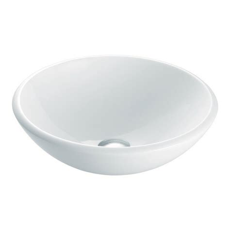 15 inch bathroom sink vigo vg07039 white phoenix stone 15 inch glass vessel