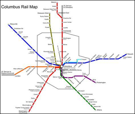 mbta commuter rail map potential columbus commuter rail map xing columbus