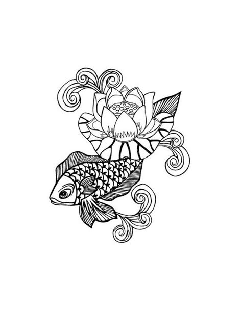 koi fish and lotus flower tattoo designs koi fish and lotus flower free design ideas