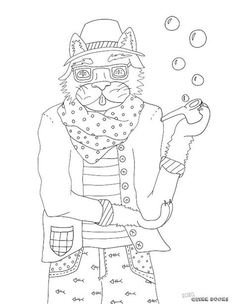 89 hipster animals coloring book hipster poster