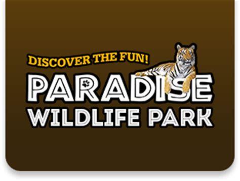 discount voucher paradise wildlife park paradise wildlife park tickets up to 21 off discount