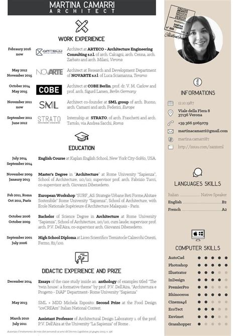 Portfolio Cv by Best 25 Architect Resume Ideas On Portfolio