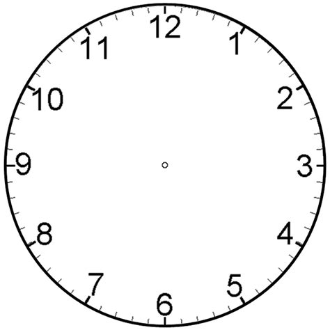 Clock Template by Clock Templates For Easy Learning Kiddo Shelter