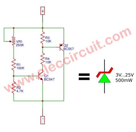 rectifier circuit zener diode variable zener diode circuit electronic projects circuits