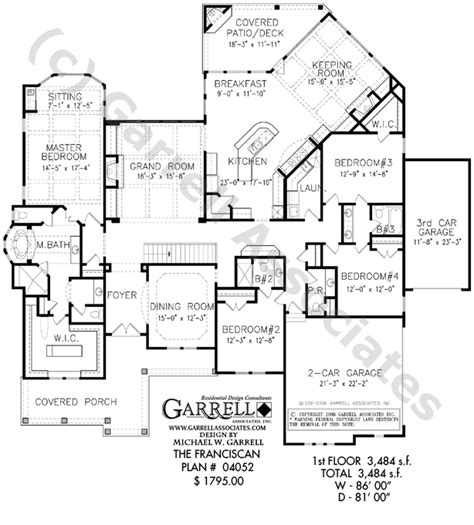 luxury open floor plans franciscan house plan house plans by garrell associates