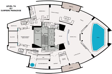 pent house floor plan presidential penthouse
