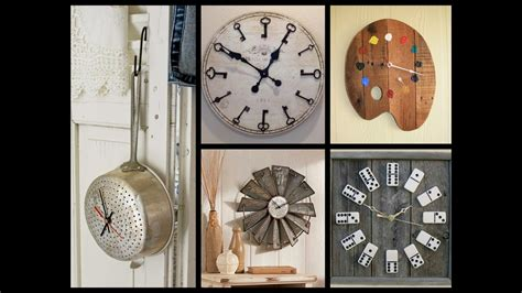 recycle home decor creative wall clock ideas recycled home decor attachment