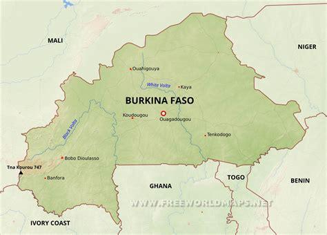 burkina faso map burkina faso physical map