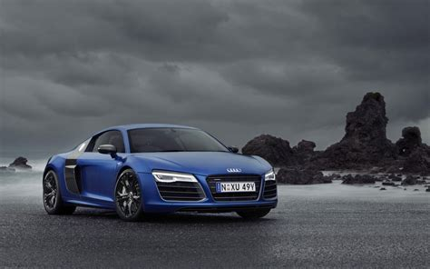 Audi R8 V10 Blue Car Wide Wallpaper Wallpapers New Hd
