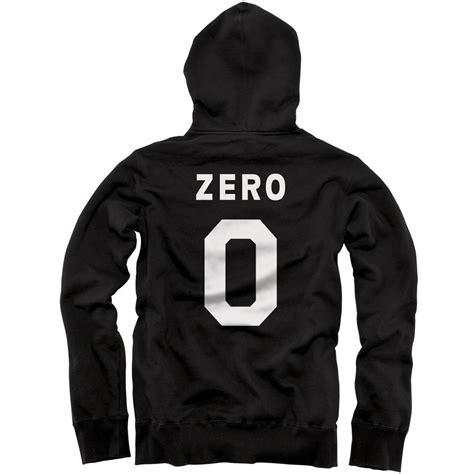 Hoodie Zeroes zero numero zip hoodie black