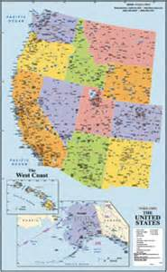 West Coast Map Of Usa by West Coast Usa Wall Map From Maps Com