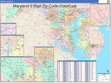 Md Search Codes Maryland Zip Codes Map Zip Code Map