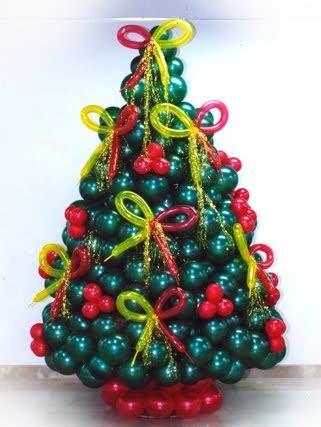 como hacer un pino de globos arte en el aire para decorar