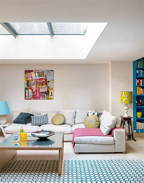 Modern Living Room L by A L Shaped Sofa Creates A Cosy Area In This Large Open