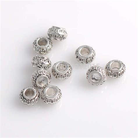 cheap jewelry supplies free shipping wholesale spacer alloy metal antique silver