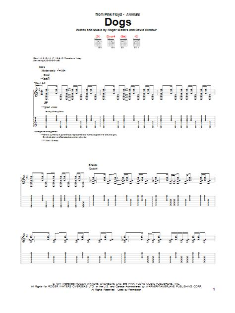 pink floyd dogs lyrics dogs guitar tab by pink floyd guitar tab 154144