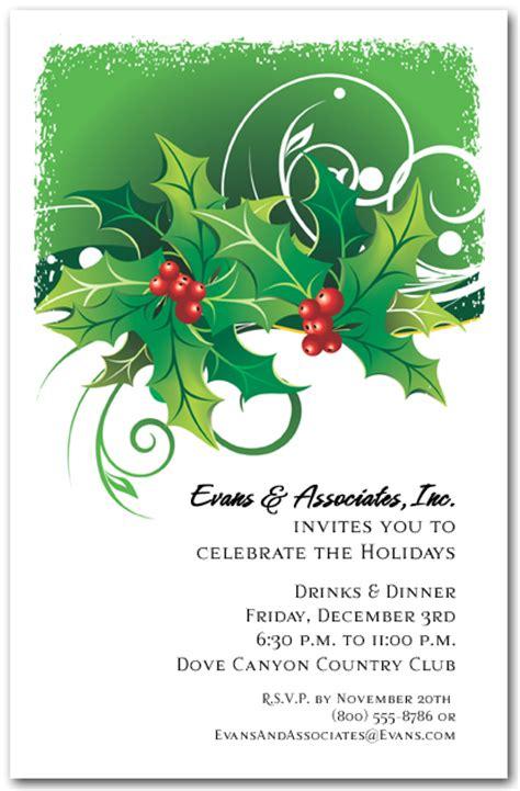 free holiday invitations templates free holiday invitation