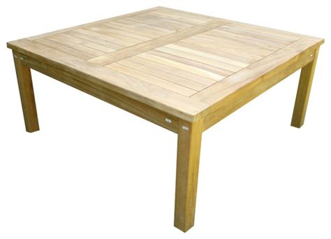 40 Square Coffee Table 40 Quot Cape Cod Square Coffee Table Grade A Teak Craftsman Outdoor Coffee Tables By