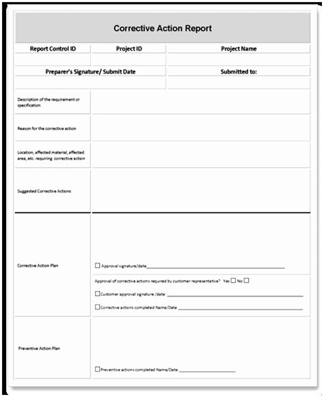 corrective report form template 7 capa form template free aauoa templatesz234