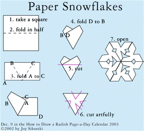 Paper Snowflake Fold - make your own snowflake quinncreative