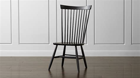 Black Wooden Dining Chairs - marlow ii black maple dining chair reviews crate and