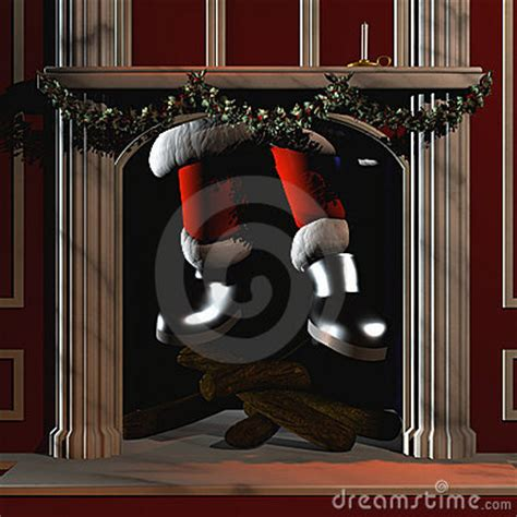 santa going down chimney 5 stock images image 3179514