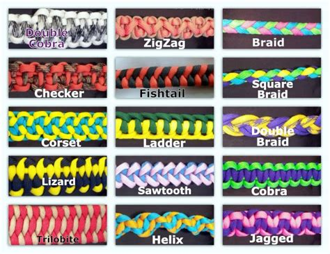 Different Types Of Bracelet Knots - paracord weaves custom made paracord items links to an