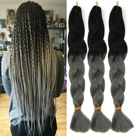 extensions grey braids pictures 24 ombre gray synthetic jumbo x pression braids twist
