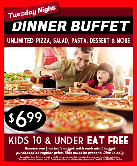 Pinned August 20th Free Kids Buffet With Yours Today At Coupons For Pizza Hut Buffet