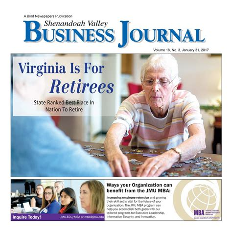 Jmu Mba Program by Shenandoah Valley Business Journal By Daily News Record
