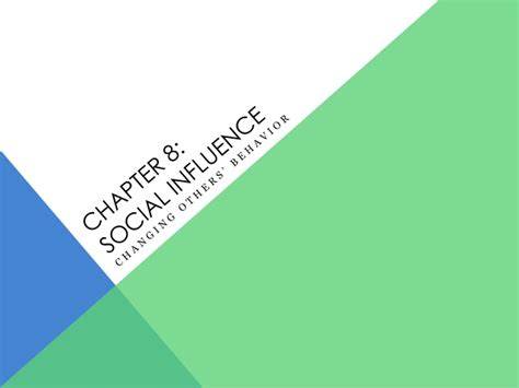psychologi sosial social psychology social influence