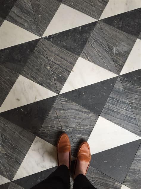 black white patterned floors