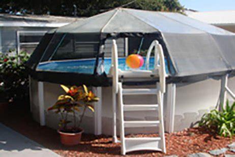 vinyl pool dome     oval calimar bs