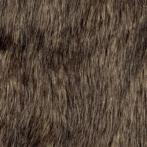 brown fur pattern shannon faux fur wolf brown black discount designer