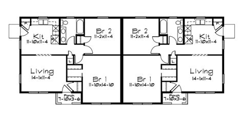 hickory hill ranch duplex home plan 057d 0015 house