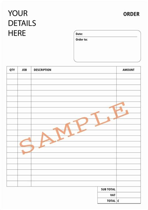 book order form template word duplicate design bespoke duplicate books and pads
