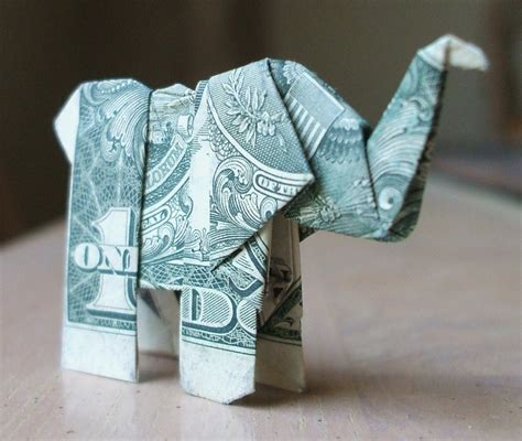 Origami Using Money - origami elephant by nes still the best on deviantart