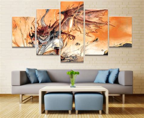 decorative paintings for home new 5 piece modular art fairy tail anime modern decorative