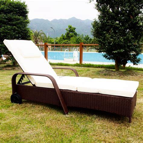 Reclining Lounger Outdoor by Foxhunter Rattan Day Chair Recliner Sun Bed Lounger