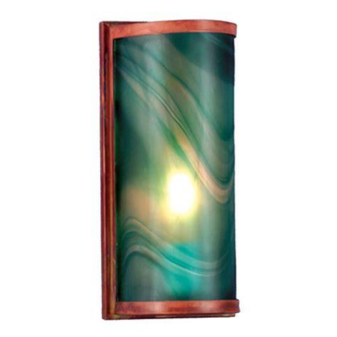 meyda  cylinder mente swirl fused glass wall sconce