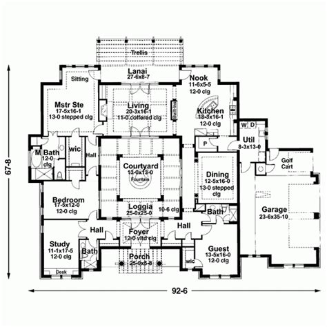 central courtyard house plans courtyard 1 house schus pinterest
