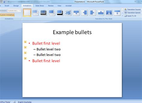 powerpoint tutorial bullet points animating bullets in powerpoint
