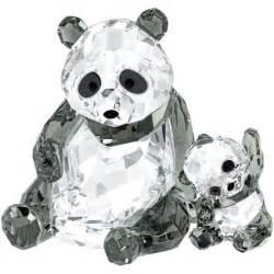 swarovski crystal panda mother with baby figurine 5063690