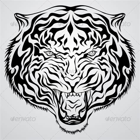 tribal tiger head tattoo tiger images designs