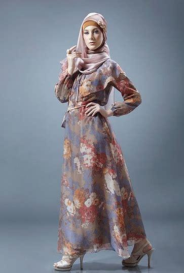 dress muslim motif bunga busana muslim